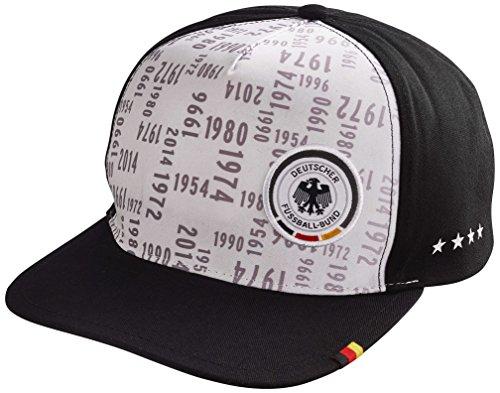 DFB 4 Sterne Fussball WM Deutschland Fan Cap Kappe Einheitsgröße ONS (Weiß / Schwarz)