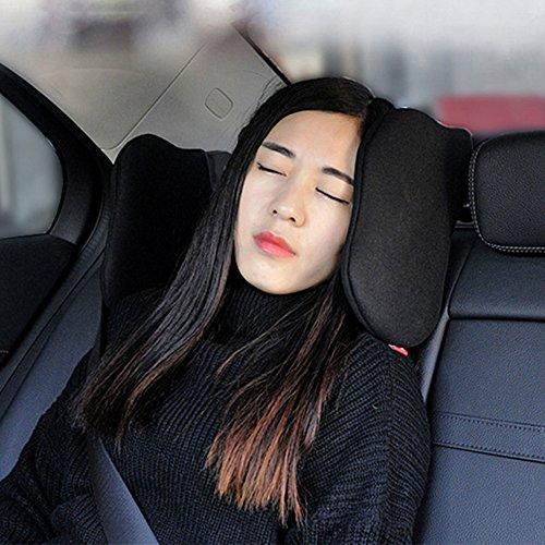 Auto Kopfstütze Kissen, verstellbare Auto Kopfstütze Seite Stützkopf Nackenkissen Restkissen Kissen Auto Autositz Kopfstütze Memory-Schaum weich zum Schlafen -