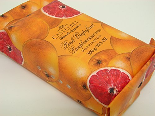 Castelbel Porto Pink Grapefruit Luxury Bath Bar 10.5 Oz Gift Wrapped by Castelbel Porto