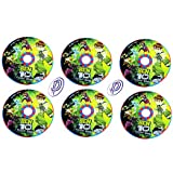 Parteet Birthday Party Return Gifts - Ben 10 Magical Unfold Flying Disk / Ring Frisbee For Kids (Pack Of 6Pcs)