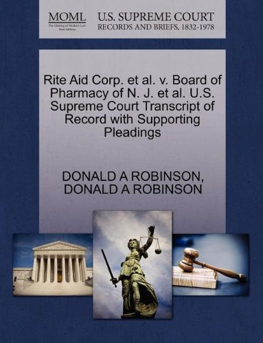rite-aid-corp-et-al-v-board-of-pharmacy-of-n-j-et-al-us-supreme-court-transcript-of-record-with-supp