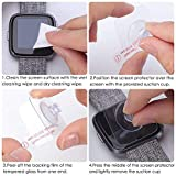 KIMILAR Screen Protector Compatible with Fitbit Versa & Lite Edition, (3 Pack) Shatter-Proof Shield Tempered Glass Screen Protector for Fitbit Versa & Lite Edition & Special Edition Smartwatch