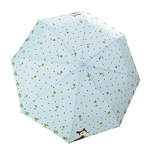 Regenschirm, Taschenschirm, Automatischer Regenschirm Folding Umbrella 3 Stufen Winddicht Schirm für Reise Outdoor Camping Freizeit