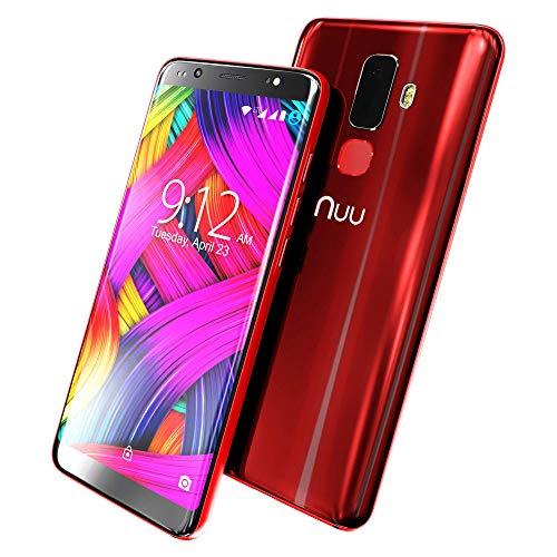NUU Mobile G3 64GB/4GB RAM - Unlocked Mobile Phone - Dual-SIM - 13MP + 5MP  Rear Camera, 13MP Front Selfie Camera - 2 Year Warranty (Ruby Red)