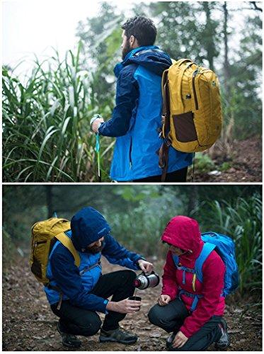 HYSENM Unisex Rucksack Wanderrucksack für Laptop Notebook-Rucksack Reisen Camping 35L Schwarz