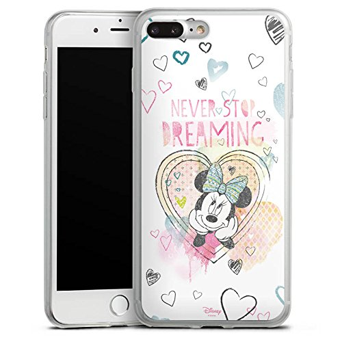 Apple iPhone 8 Plus Slim Case Silikon Hülle Schutzhülle Disney Minnie Mouse Fanartikel Geschenke Silikon Slim Case transparent