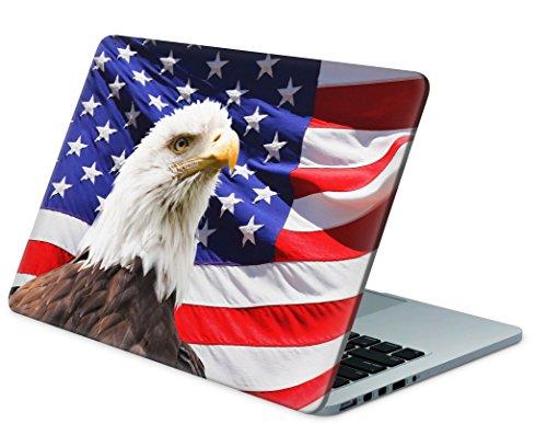 """Skins4u Laptop Aufkleber Universal Skin Netbook Sticker für bis zu 15,6"""" Displays in 38,1x26,7cm - USA Eagle"""
