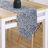 Qinqin666 Tischläufer Sinn für Mode der luxuriösen minimalistischen Stil Tisch Läufer Tischfahne Fahne N 30x240cm