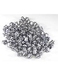 Cartasport Unisex aluminio tacos (en 100de), Plata, 18mm
