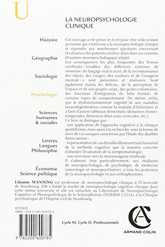 Book's Cover ofLa neuropsychologie clinique - 2e éd. - NP - Approche cognitive