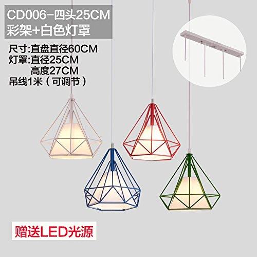 BESPD Diamante nórdico Restaurante Loft moderno minimalista eólica industrial creativo hierro araña de iluminación de luz colgantes -