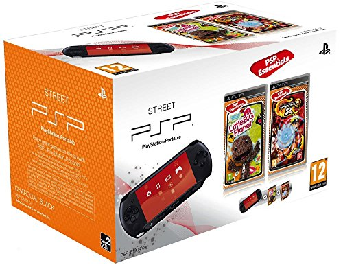 Console-PSP-Street-E1004-noire-Little-big-planet-collection-essentielles-Naruto-Shippuden-Ultimate-Ninja-heroes-2-collection-essentielles