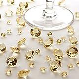 Tischkristalle Gold ca. 100 g - Tischdeko Hochzeit Gold - Premium Deko-Diamanten Deko-Kristalle Dekosteine Diamantkristalle Gold