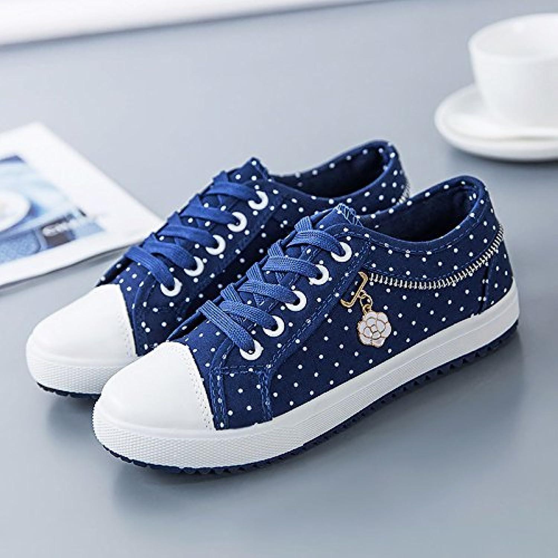 NGRDX&G Zapatos De Lona, ??Zapatos De Mujer, Ola, Punto, Zapatos Deportivos Femeninos, Zapatos De Mujer, Azul...
