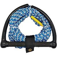 Jranter - Cuerda de esquí con Mango de Radio y empuñadura EVA, Color Azul, Unisex Adulto, Azul, 70 Feet