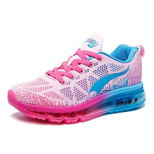 onemix Leicht Damen Laufschuhe Gute Qualität Sneaker Air Cushion Women's Running Shoes Pink