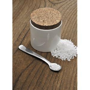 carl mertens 4368 1060 pot pour gros sel en porcelaine avec cuill re cuisine maison. Black Bedroom Furniture Sets. Home Design Ideas