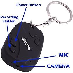 M MHB Smart Spy Keychain Camera Hidden Audio /Video Recording Support 32GB Memory.