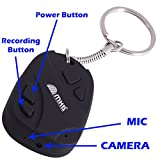 M MHB Smart Spy Keychain Camera Hidden Audio /Video Recording Support 32GB Memory.