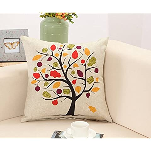 Yifom Giardino di piante e fiori cuscino lombare cuscino divano