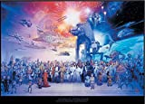 Star Wars XXL Poster Cast (140cm x 100cm) + Original tesa Powerstrips® (1 Pack/20 STK.)