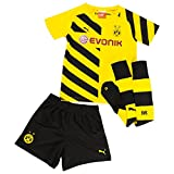 PUMA Kinder Baby Trikot Set BVB Home Minikit with Socks, Cyber Yellow-Black, 104, 745912 01