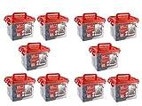 Idena LED Lichterkette 240er, für innen/außen, warm weiß, 31816 (240 LEDs, Warm-weiß, 10x)