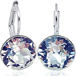 Ohrringe mit Kristallen von Swarovski® für Damen - Viele Farben - Silber - NOBEL SCHMUCK (Crystal)