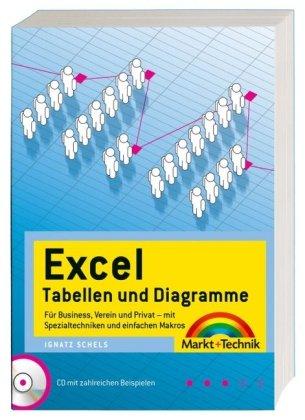 """Excel Tabellen + Diagramme - Mit Spezialtechniken und einfachen Makros - CD mit 400  """"Ready to use""""-Beispielen!: 400 Beispiele und Praxis-Lösungen (Office Einzeltitel)"""