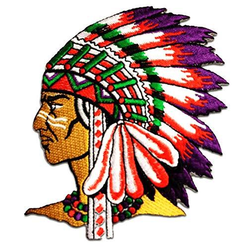 Parches - indio jefe de tribu - colorido - 7