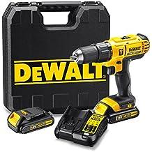 DEWALT DCD776C3-QW - Taladro Percutor XR 18V 13mm Li-Ion 1,3Ah con 3 baterías y maletín
