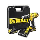 Dewalt XR Battery DCD776°C2Cordless Hammer Drill Includes 2Gang Metal Gear & LED Light Screw in Drill and Hammer Drilling/1x Li-Ion 18V Cordless Drill + 2Batteries