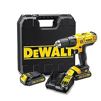DEWALT DCD776C2-QW – Taladro percutor XR 18V, 25.500 ipm, incluye 2 baterías Li-Ion 18V (1.3Ah), cargador y maletín