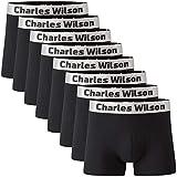 Charles Wilson Calzoncillo Bóxer de Hombre 8 Unidades (Mixed Plain, Large)