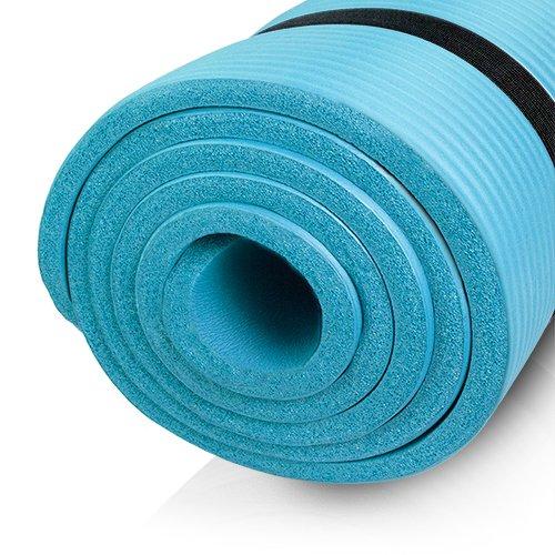 diMio Yogamatte / Pilatesmatte 185 x 60 cm, phlatatfrei + SGS-geprüft, rutschfest (Skyblue, 1 cm)
