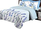 Bombay Dyeing 525B 164 TC Cotton Double Bedsheet with 2 Pillow Covers - Blue