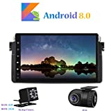 Hi-azul Android 8.0 Car Autoradio, Dash 8-Core 64Bit RAM 4G ROM 32G Car Radio 9 Zoll Autonavigation Kopfeinheit Car Audio für BMW 3 Series-E46/ M3 (mit Rückfahrkamera und DVR)