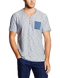Tom Tailor Fine Striped Serafino, T-Shirt Homme