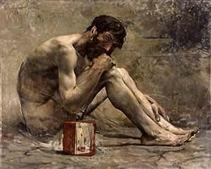 Peinture à l'huile - 20 x 16 inches / 51 x 41 CM - Jules Bastien Lepage - Diogène
