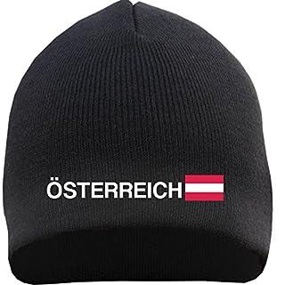 ÖSTERREICH Beanie - bestickt - Einheitsgröße Schwarz