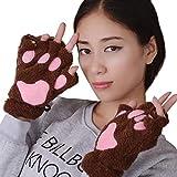 TEBAISE Frauen Winter Handgelenkwärmer Gestrickte Tastatur-lange fingerlose Handschuhe Mitten Warme Unifarben Fäustlinge Handschu Cozy Halb Winterhandschuhe Strick Sporthandschuhe