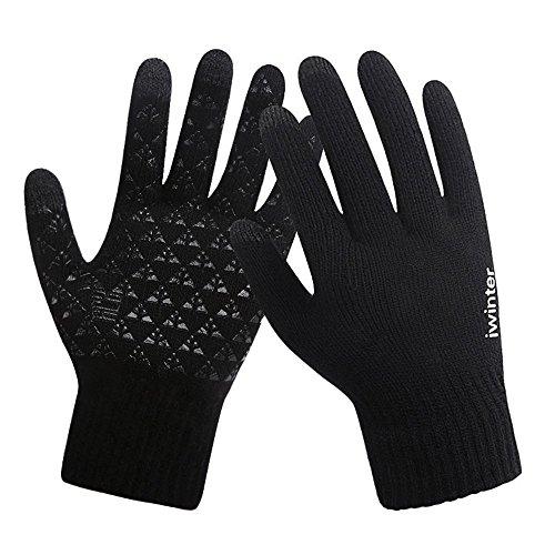 Winter Knit Gloves,Acelec Windproof Touchscreen Warm Hand Gloves for Men & Women, Suit For Climbing Sport etc