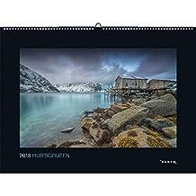 Hurtigruten 2018: Kalender 2018 (KUNTH Wandkalender Black Edition)