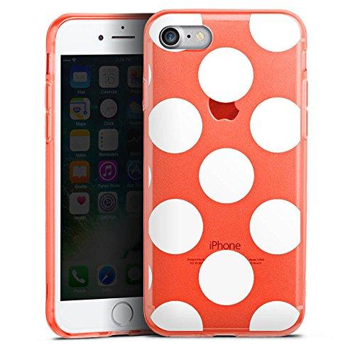 Apple iPhone 7 Silikon Hülle Case Schutzhülle Muster ohne Hintergrund Punkte Polka Dots Silikon Colour Case neon-orange