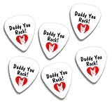 Daddy You Rock Fathers Day 6 X Logo Guitare Mediators Picks (GD)