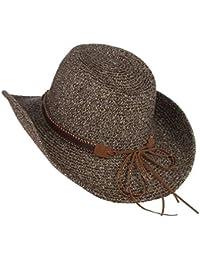 Unisex Vaquero De Paja Con Ala De Forma Sombrero Fashion De Vaquero Para  Mujer De Verano Para Hombre Sombrero De Paja Sombrero… fc207da008a