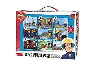 King Fireman Sam 9in1 Puzzle Pack - Rompecabezas (Rompecabezas de Figuras, Dibujos, Niños, Niño, 3 año(s), Cartón)