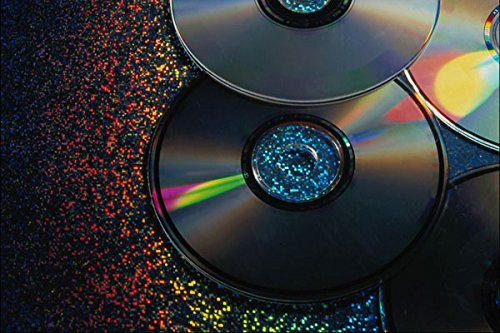 764070-4-compact-disks-reflecting-colors-a4-photo-poster-print-10x8
