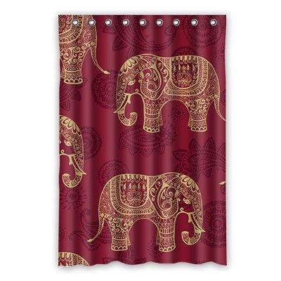 Dalliy elefante africano costume tenda della doccia shower curtain 120cm x 183cm