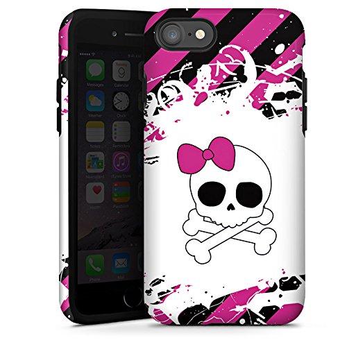 Apple iPhone X Silikon Hülle Case Schutzhülle Punk Rock Prinzessin Pink Totenkopf Tough Case glänzend